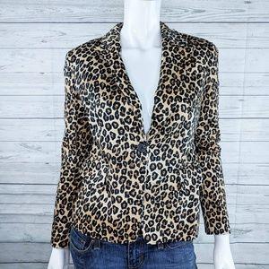 Michael Kors Leopard Print Blazer Sz 4